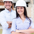 Civil engineers smiling — Stock Photo #13495052