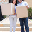 Royalty-Free Stock Photo: Moving couple