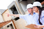 Civil engineers working — Stock Photo