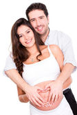 Pregnant couple in love — Stock Photo