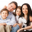 Foto Stock: Happy family together