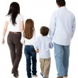 Family walking together - Foto Stock