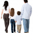 Family walking together - Stockfoto