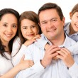 Beautiful happy family — Stock Photo