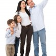 Family pointing somewhere — Stock Photo #13765348
