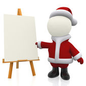 3D Santa painting — Stock Photo