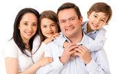 Mooie en gelukkige familie — Stockfoto