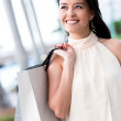 Royalty-Free Stock Photo: Happy woman shopping