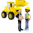3D Construction workers — Stock Photo