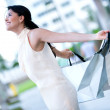 Royalty-Free Stock Photo: Excited shopping woman