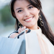 Beautiful shopping woman — Stock Photo #14154930