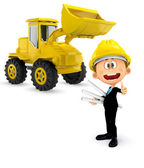 3d white construction worker stock photo 169 real texelart