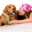 Womwith her dog — Stock Photo #14528957