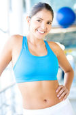 Fit sportschool vrouw — Stockfoto