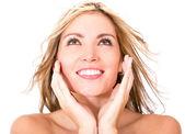 Woman with glowing skin — Stock Photo