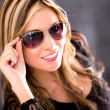 Woman wearing shades — Stock Photo