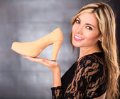 Woman loving high heels — Stock Photo