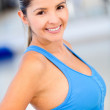 Beautiful woman working out — Stock Photo
