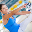 Flexible woman at the gym — Stock Photo #14882067