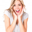 Surprised woman portrait  — Stock Photo