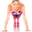 Woman doing push ups — Stock Photo #14887725