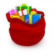 3D Sack of gifts — Stock Photo