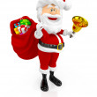 3D Happy Santa Claus - Stock Photo