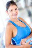 Beautiful woman at the gym — Stock Photo