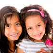 Stock Photo: Beautiful little girls