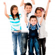 Excited group of kids  — Stock Photo
