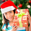 Royalty-Free Stock Photo: Happy girl with a Christmas gift