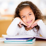 Cute school girl — Stock Photo #15659359