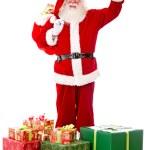 Happy Santa with Christmas presents — Stock Photo