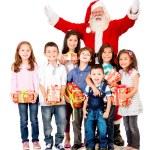 Generous Santa Claus — Stock Photo