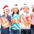 Stock Photo: Kids with Christmas presents