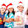 Group of Christmas kids — Stockfoto