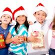 Grupo de niños de Navidad — Foto de Stock