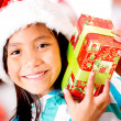 Happy Christmas girl - Stockfoto