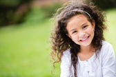 Sweet little girl outdoors — Stock Photo
