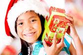 Glückliche weihnachten-mädchen — Stockfoto
