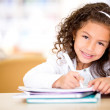 Little girl studying — Stockfoto #15660531