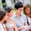 Stockfoto: Group of college students