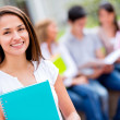 Beautiful female student — Stock Photo