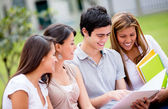 Group of college students — Stockfoto