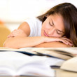 Tired female student Tired female student  — Stockfoto #15836711
