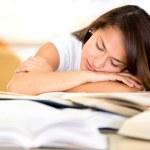 estudiante estudiante cansado cansado — Foto de Stock