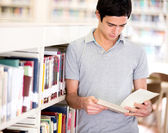 Man at the library Man at the library — Stock Photo