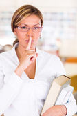 Keep quiet at the library Keep quiet at the library — Stock Photo