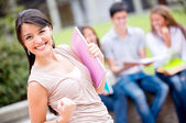 Excited female student Excited female student — Stock Photo