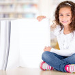 Little girl with a book Little girl with a book — Stock Photo